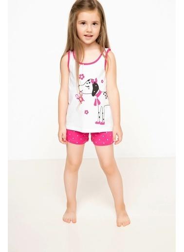 DeFacto Baskılı Kız Çocuk Alt Üst Pijama Takımı Pembe